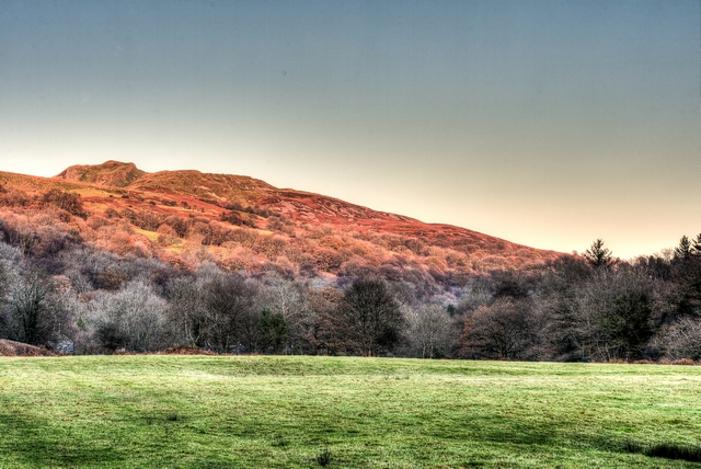 HDR Image of the 'Sleeping Giant' (the Cribarth) in the Swansea Valley.